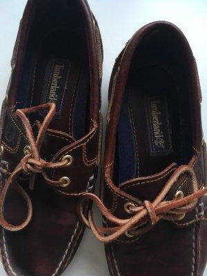 Timberland Chaussures bateau brun noir-cognac cuir