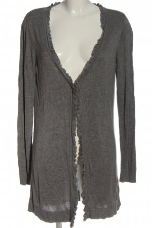 Classics meets Trends Knitted Cardigan light grey flecked casual look