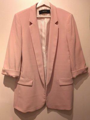 Classy Long Blazer ZARA mit 3/4 Ärmel in Blush Pink, Gr. L