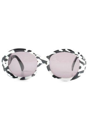 Claude Montana Retro Glasses white-black abstract pattern extravagant style