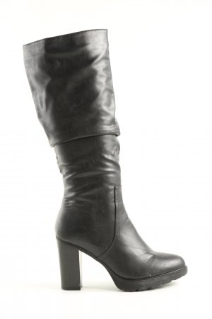 Claudia Ghizzani Absatz Stiefel schwarz Casual-Look