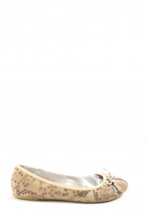 Claudia Ghizzani Foldable Ballet Flats natural white-brown animal pattern