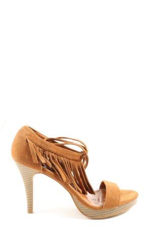 Claudia Ghizzani High Heel Sandal brown casual look