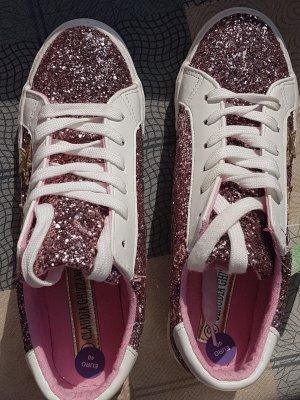 Claudia  Ghizzani lila+ Sterne + Glitzer Sneakers neu Gr  40