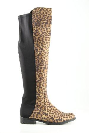 Claudia Ghizzani Buty nad kolano Wzór w lwa W stylu casual