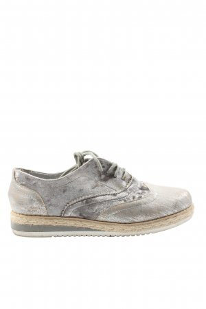 Claudia Ghizzani Lace Shoes light grey casual look