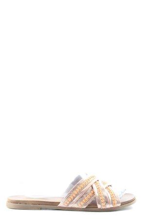 Claudia Ghizzani Strandsandalen bruin-roze casual uitstraling