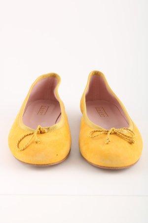 Claudia Obert Bailarinas plegables amarillo pálido look casual