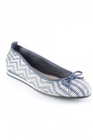 Claudia Obert Foldable Ballet Flats zigzag pattern business style