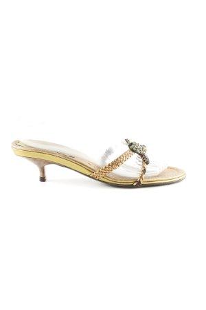 Claudia Obert Riemchen-Sandaletten goldfarben Elegant