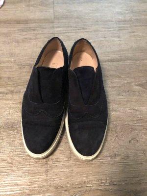 Claudia Obert Slip-on Sneakers dark blue-white