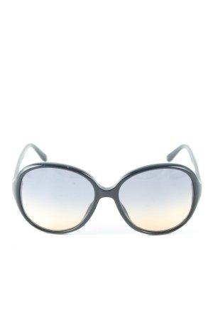 Claudia Schiffer Brille blau Farbverlauf Casual-Look