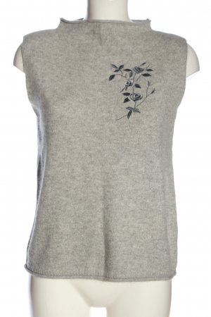 Claudia Schiffer Knitted Vest light grey flower pattern casual look