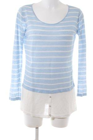 Claudia Sträter Camicia lunga blu-bianco motivo a righe stile casual