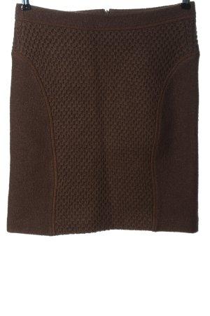 Claudia Sträter Jupe en laine brun imprimé allover style décontracté