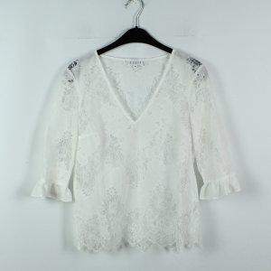 Claudie Pierlot Transparent Blouse white polyester