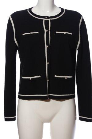 Claudie Pierlot Giacca in maglia nero-bianco stile professionale