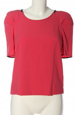 Claudie Pierlot Kurzarm-Bluse rot Casual-Look