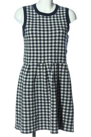 Claudie Pierlot Kurzarmkleid schwarz-weiß Allover-Druck Casual-Look