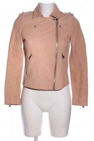 Claudie Pierlot Leather Jacket nude business style