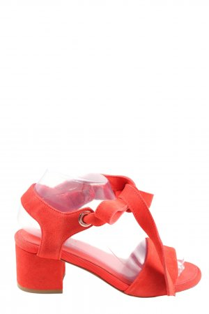Claudie Pierlot Strapped High-Heeled Sandals red casual look