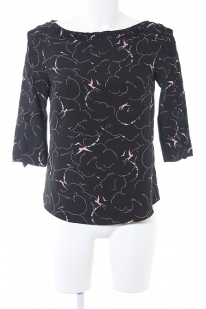 Claudie Pierlot Schlupf-Bluse abstraktes Muster Casual-Look
