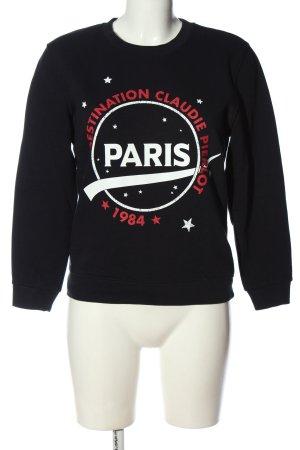 Claudie Pierlot Sweat Shirt themed print casual look