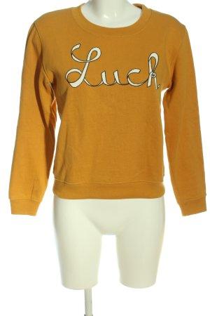 Claudie Pierlot Sweat Shirt light orange-white printed lettering casual look