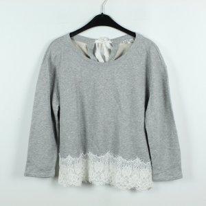 CLAUDIE PIERLOT Sweatshirt Gr. 38 grau mit Spitze (19/10/073**)