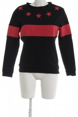 Claudie Pierlot Sweatshirt schwarz-ziegelrot Casual-Look