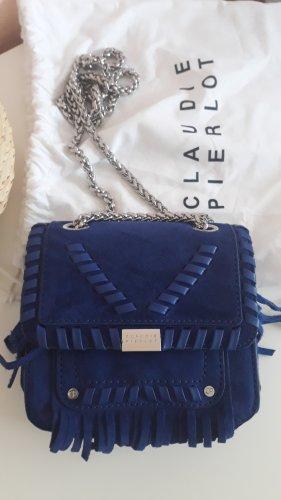 Claudie Pierlot Tasche, Blau/Königsblau, Leder, neuwertig