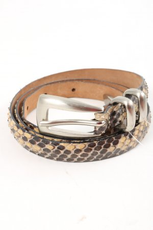 Claudio Orciani Leather Belt brown-natural white casual look