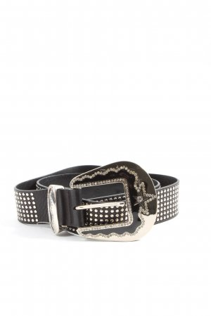 Claudio Orciani Leather Belt black glittery