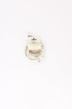 Clayre & Eef Bransoletka w kolorze białej wełny