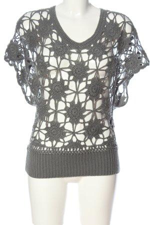 Clayre & Eef Szydełkowany sweter jasnoszary Ekstrawagancki styl