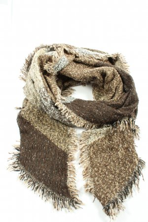 Clayre & Eef Knitted Scarf brown-natural white flecked casual look