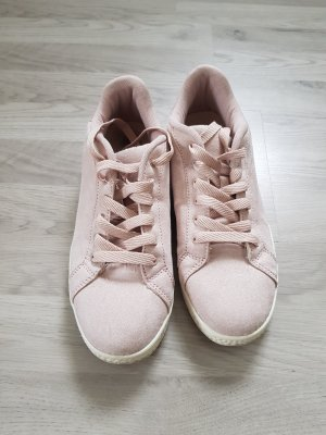 CLD Lace-Up Sneaker white-dusky pink