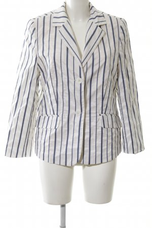 Clément Jersey Blazer white-blue striped pattern business style