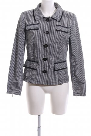 Clément Short Jacket light grey-black check pattern elegant