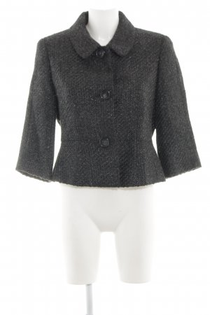 Clément Short Coat black-silver-colored flecked business style