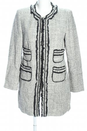 Clément Long Blazer light grey weave pattern business style
