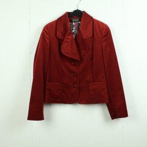 Clément Klassischer Blazer dark red cotton