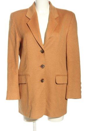 Clément Cappotto in lana arancione chiaro puntinato stile casual