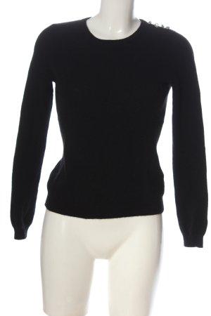 Clements Ribeiro Kaszmirowy sweter czarny W stylu casual