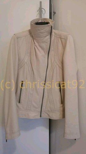 Clements Ribeiro Leather Jacket cream leather