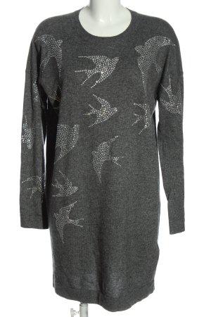 Clements Ribeiro Maglione lungo grigio chiaro puntinato stile casual