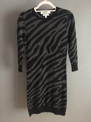 Clements Ribeiro Vestido de lana negro-gris antracita