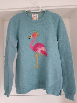 Clements Ribeiro Woll Pullover mit Flamingo Gr.M