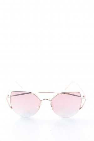 Cleo Nicci Occhiale da sole spigoloso bianco sporco-rosa stile casual
