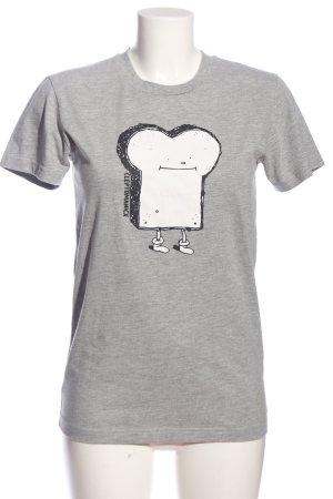 Cleptomanicx T-Shirt hellgrau meliert Casual-Look
